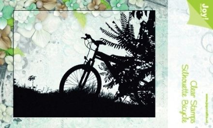 6410/0092 ~ SILHOUETTE BICYCLE ~ JOYCRAFTS CLEAR STAMP